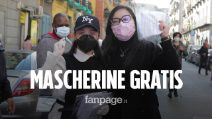 """Coronavirus, la comunità cinese dona mascherine ai napoletani: """"Italia ce la farai!"""""""