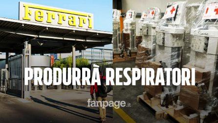 Coronavirus, Ferrari produrrà respiratori e ventilatori a Maranello