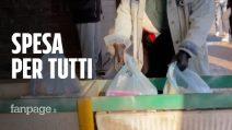 Coronavirus, a Napoli ragazzi fanno spesa solidale per i più bisognosi