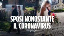 """Coronavirus, nozze a Napoli, gli sposi: """"Non potevamo rimandare il matrimonio"""""""