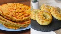 3 recipes to make easy bread or pizza without yeast!