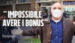 """Coronavirus Napoli, protesta davanti a Inps e CAF chiusi: """"Impossibile fare la domanda per i 600 euro"""""""