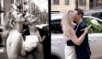 """Coronavirus, si sono giurate amore eterno per le strade deserte di New York: """"Ora più unite che mai"""""""