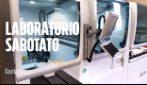 Coronavirus, le immagini del laboratorio del San Camillo per test Covid19 sabotato nella notte