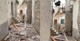 Foggia, crollano due palazzine: le immagini delle macerie