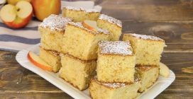 Blended apple cake squares: an easy and cheap cake!