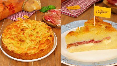 Sbriciolata di patate ripiena di Prosciutto di Carpegna DOP e provola: facile e irresistibile!