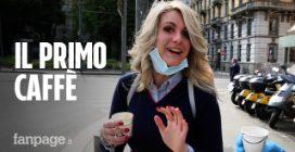 """Milano, il primo caffè dopo il lockdown: """"Ha il sapore della speranza di tornare alla normalità"""""""