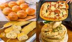 4 Easy recipes for making bread or pizza at home!