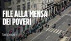 Napoli, l'altra faccia della pandemia: centinaia di poveri che hanno fame