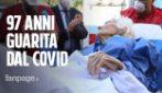 """Catania, dimessa 97enne guarita di Covid. L'applauso sanitari: """"Grazie, ma non ho fatto niente"""""""