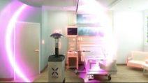 Robottino anticovid sanifica i reparti degli ospedali