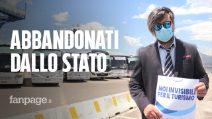 """Coronavirus, protesta dei bus turistici: """"Disdette del 100%, Governo e De Luca ci aiutino"""""""