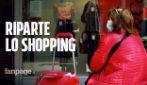 """Milano, riprende lo shopping: """"C'è voglia di ripartire, siamo positivi per il futuro"""""""
