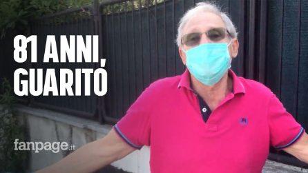 Mario, guarisce dal Covid a 81 anni, torna a casa dopo due mesi e lo festeggiano come una rockstar