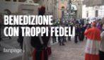 Bologna: folla in piazza per la benedizione della Madonna di San Luca