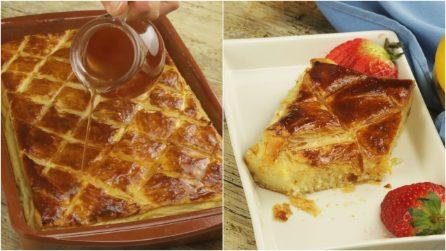 Bolo de massa folhada e creme: perfeito para um docinho saboroso pronto em poucos minutos!