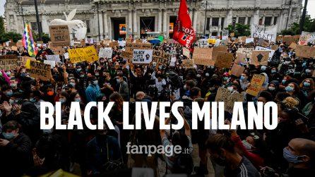 """Milano, in migliaia al raduno di Black lives matter: """"Il razzismo non è solo un problema americano"""""""