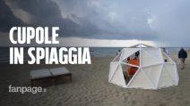 Coronavirus, in spiaggia a Fregene arriva la cupola per il distanziamento sociale