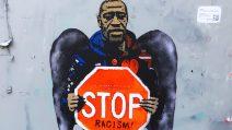 """""""Stop Racism"""", il murale di TvBoy in memoria di George Floyd"""