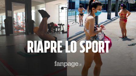 La felicità degli sportivi di Milano: con mascherine e distanziamento riaprono piscine e palestre