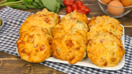 Baked fritters: easy and quick, without frying!