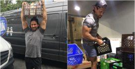 Il sexy milkman che consegna latte a domicilio ha conquistato New York col suo fisico statuario