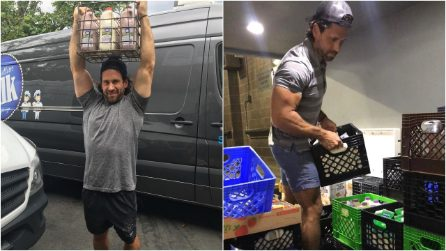 New York City's hot milkman is driving customers crazy with his good looks