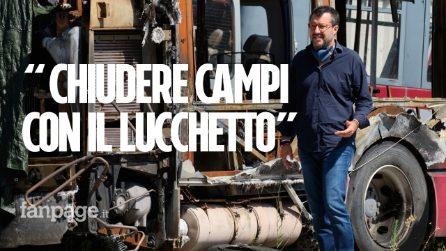 """Campo di Castel Romano, arriva Salvini: """"Sgombero dei rom per la sicurezza degli autisti"""""""