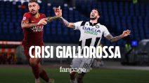Roma-Udinese 0-2, crisi giallorossa: Gotti festeggia grazie a Lasagna e Nestorovski