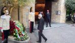 Bergamo, PresidenteMattarelladepone una corona in memoria delle vittime del covid