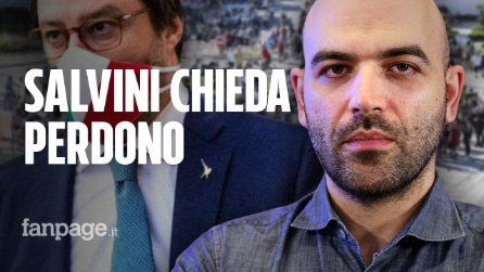 """Roberto Saviano: """"Salvini, vai a Mondragone e chiedi perdono alla mia terra"""""""