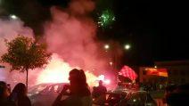 Benevento promosso in Serie A: i festeggiamenti dopo la vittoria