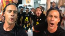 Benevento in serie A, Pippo Inzaghi scatenatissimo negli spogliatoi