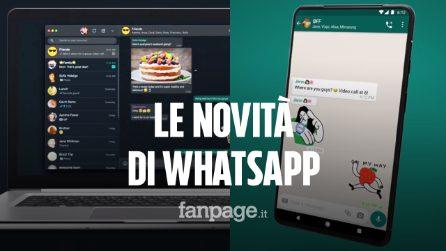 Su WhatsApp arrivano gli sticker animati e non solo: ecco tutte le novità