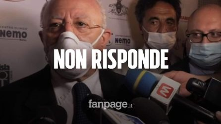 Inchiesta Fanpage.it sul Covid Hospital, De Luca non risponde e se ne va