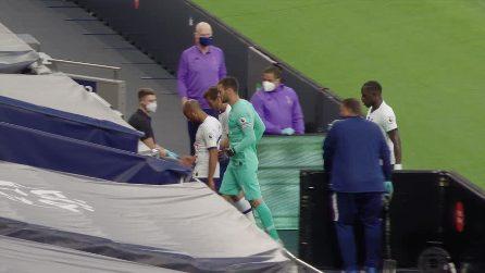 Tottenham-Everton, rissa tra Lloris e Son a fine primo tempo