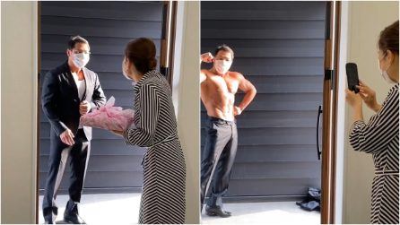 """Delivery Macho"", the bodybuilder who delivers sushi at home and undresses for his customers"