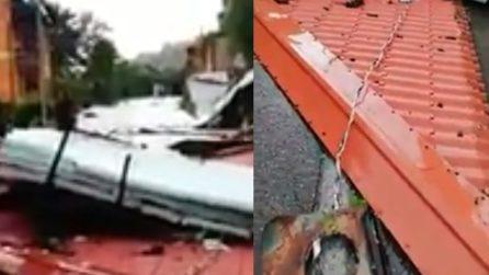 Forte tempesta nel bresciano, le immagini dei danni provocati dal maltempo