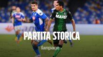 Il Napoli vince 2-0 al San Paolo: al Sassuolo annullati 4 gol dal VAR, partita storica