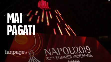 """Universiadi Campania, ad un anno dall'evento ci sono volontari non pagati: """"Mai visto un euro"""""""