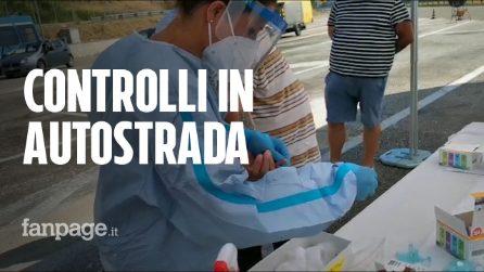 Coronavirus, test alla barriera autostradale di Roma nord per chi arriva dall'est Europa