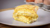 Omelete de ovo é super saborosa!