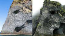 L'elefante di roccia si tuffa in mare: il video di uno spettacolare scoglio