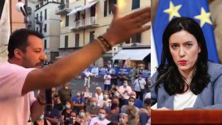 """Salvini sulla Azzolina: """"Abbiamo un ministro che ha le rotelle al posto dei neuroni"""""""