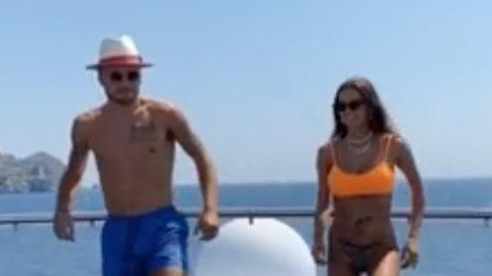 Ciro Immobile e Jessica Melena si divertono sui social: il balletto in barca