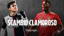 Pogba torna alla Juventus? Spunta l'ipotesi di un clamoroso scambio con Paulo Dybala