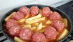 Polpette in padella con patate: il secondo piatto gustoso e veloce