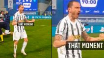 Juve Supercampione, l'urlo impressionante di Bonucci
