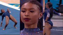 """Ginnastica, esibizione per le """"black excellence"""": la performance di Nia Dennis conquista il mondo"""